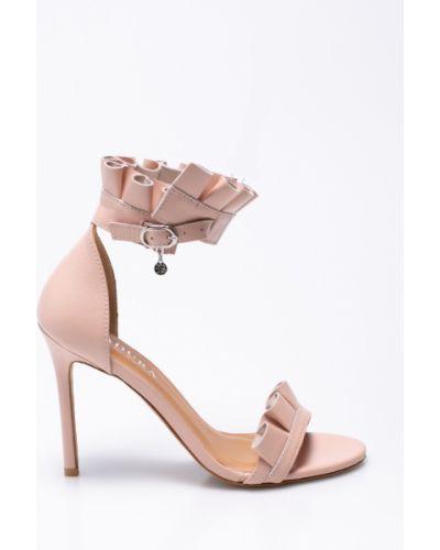 Туфли на высоком каблуке кожаные на каблуке Badura