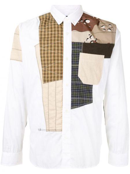 Белая классическая рубашка с воротником с карманами пэчворк Junya Watanabe Man
