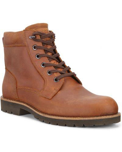 Зимние ботинки на шнуровке высокие Ecco