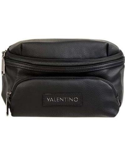 Z paskiem czarny torba z zamkiem błyskawicznym Valentino By Mario Valentino