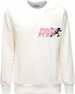 Różowa bluza z haftem bawełniana Lc23