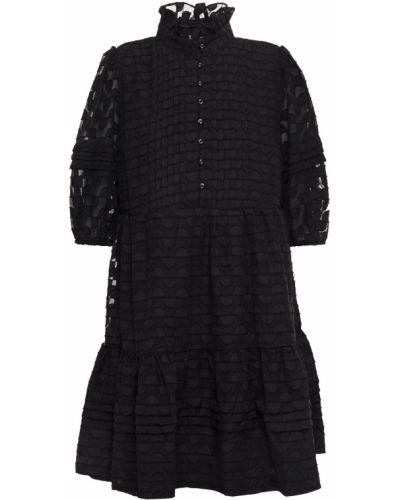 Шифоновое черное платье мини с подкладкой Walter Baker