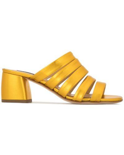 Мюли на каблуке желтый Fabio Rusconi
