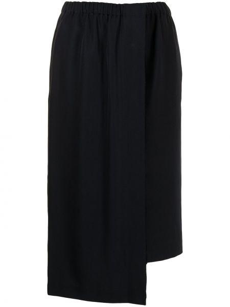 Асимметричная синяя юбка миди с карманами Comme Des Garçons Comme Des Garçons