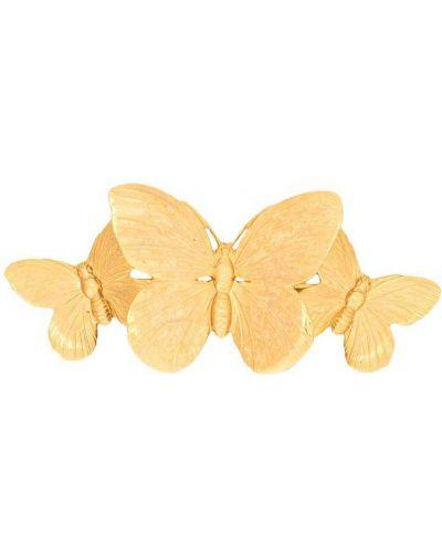 Золотистая желтая заколка позолоченная Jennifer Behr