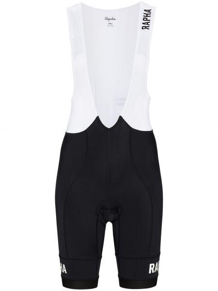Czarne szorty z printem z nylonu bez rękawów Rapha