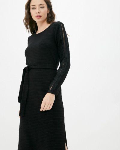Платье свитер - черное Sa.l.ko