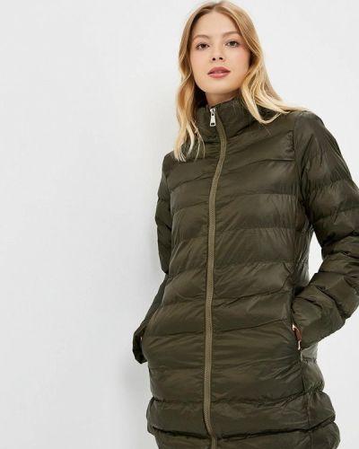 Утепленная куртка осенняя зеленая Softy
