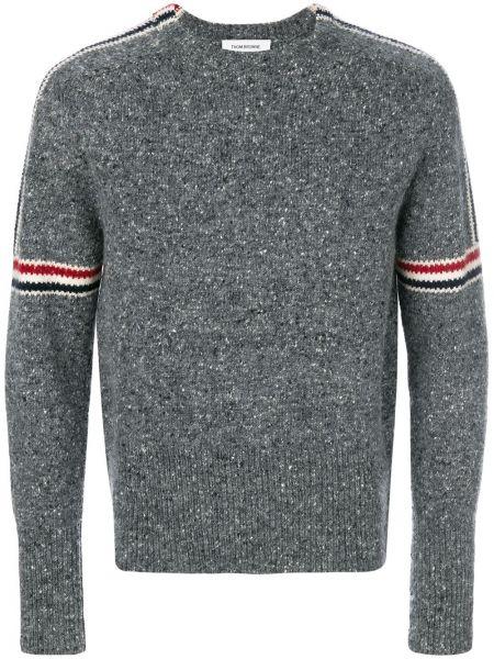 Biały sweter zapinane na guziki Thom Browne