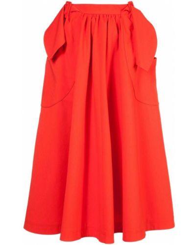 Красная юбка миди Rejina Pyo