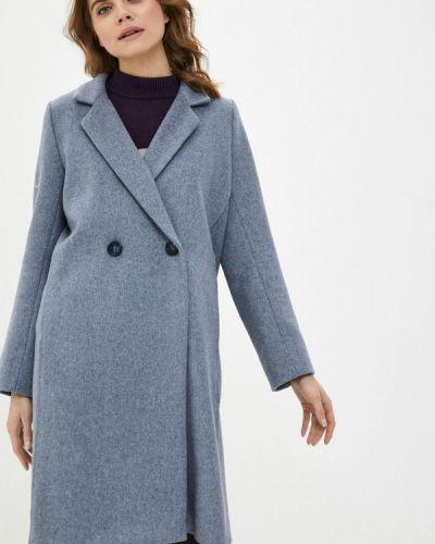 Серое пальто двубортное Dasti