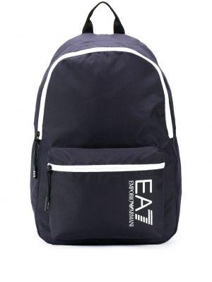 Синяя сумка на молнии с карманами Ea7 Emporio Armani