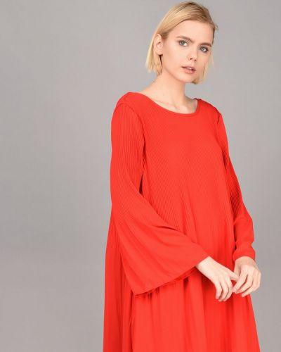 Платье однотонное - красное Broadway