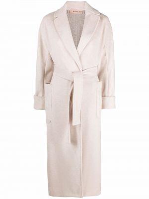 Beżowy długi płaszcz Blanca Vita