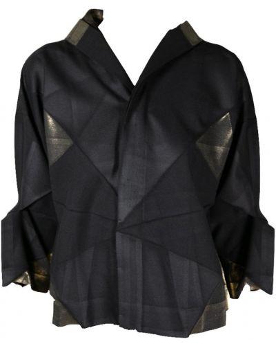 Złota czarna kurtka Issey Miyake