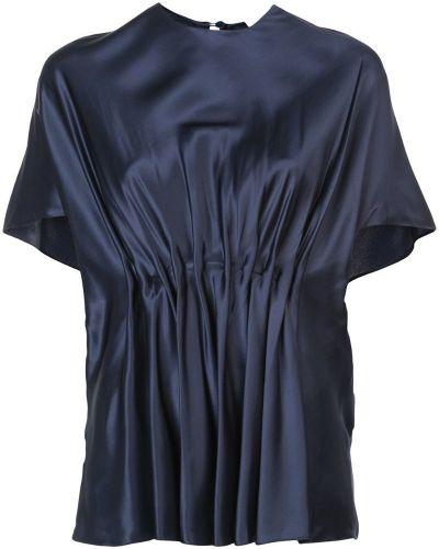 Блузка с короткими рукавами - синяя Vionnet