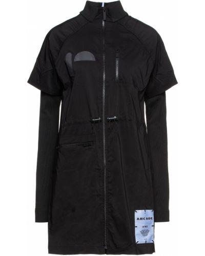 Хлопковое черное платье мини с заплатками Mcq Alexander Mcqueen