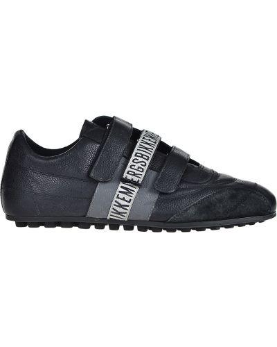 Кроссовки замшевые черные Bikkembergs