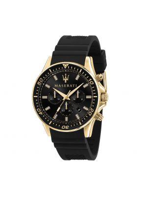 Czarny złoty zegarek Maserati