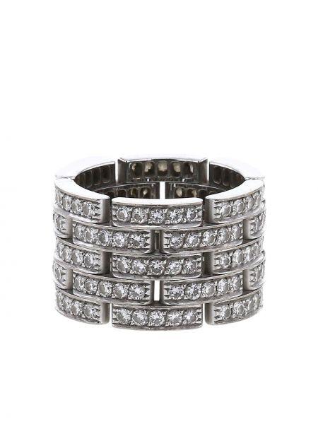 Biały złoty pierścionek z diamentem Cartier