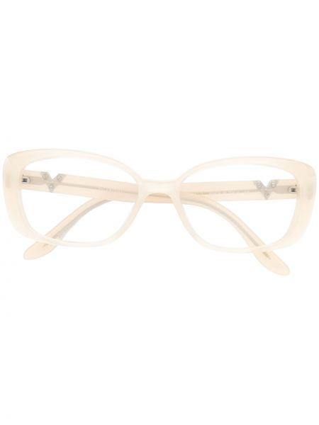 Prosto biały oprawka do okularów metal prostokątny Valentino Pre-owned
