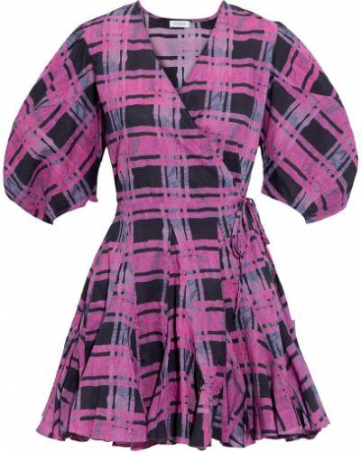 Różowa sukienka mini rozkloszowana bawełniana Rhode