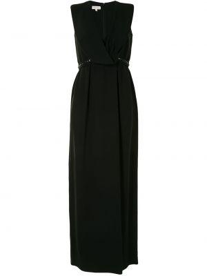 Платье макси длинное - черное Delpozo