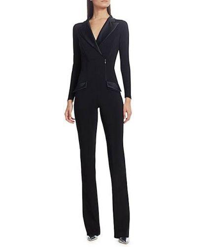 Черный комбинезон с карманами с длинными рукавами Chiara Boni La Petite Robe