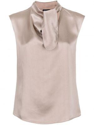 Bluzka z jedwabiu - różowa Giorgio Armani
