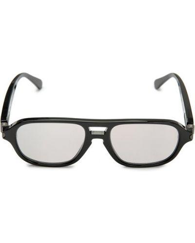 Солнцезащитные очки черные двойные Brioni