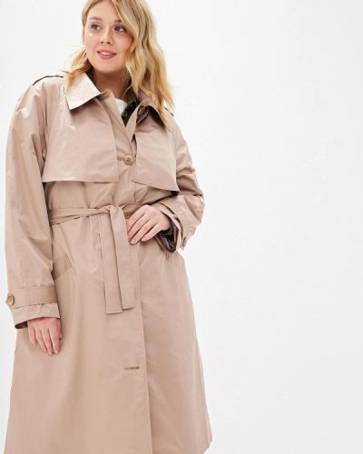 Плащ бежевый авантюра Plus Size Fashion