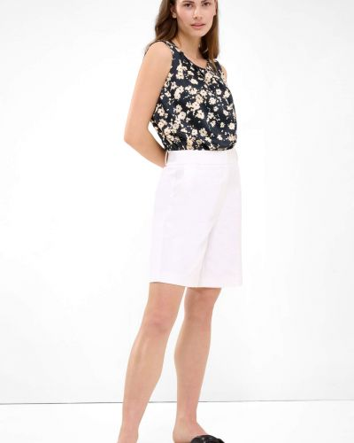 Białe krótkie szorty eleganckie bawełniane Orsay