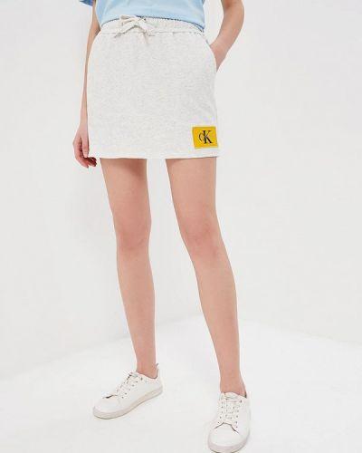 Серая юбка Calvin Klein Jeans