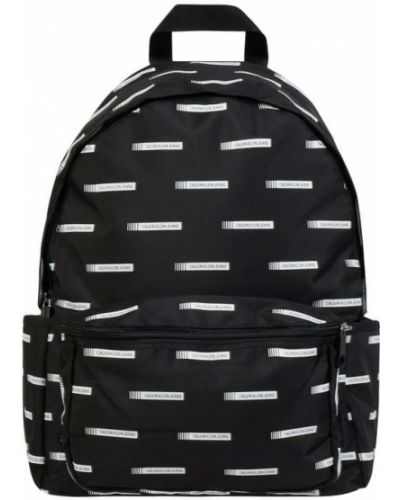 Czarny plecak w paski Calvin Klein Jeans