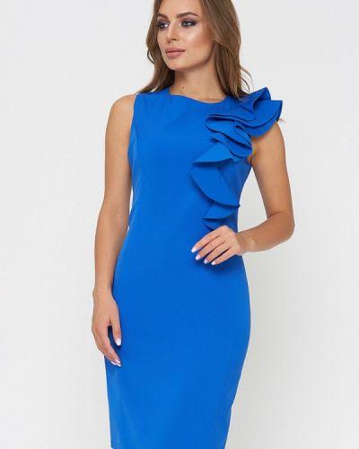 Коктейльное платье весеннее синее Sellin