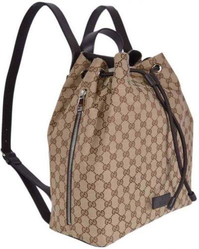 Czarny plecak zamszowy Gucci