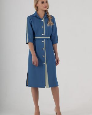 Платье с поясом на пуговицах со складками Zip-art