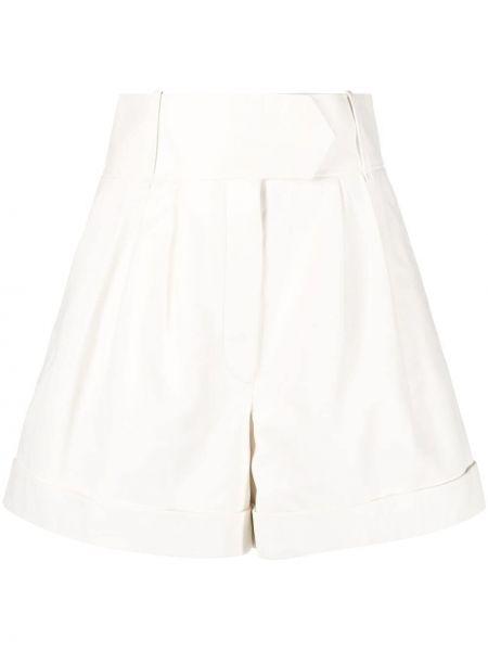 Белые с завышенной талией шорты с карманами Tommy Hilfiger