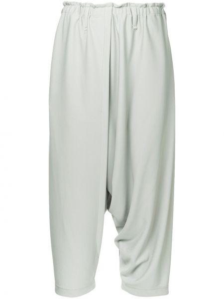 Серые драповые брюки с поясом 132 5. Issey Miyake