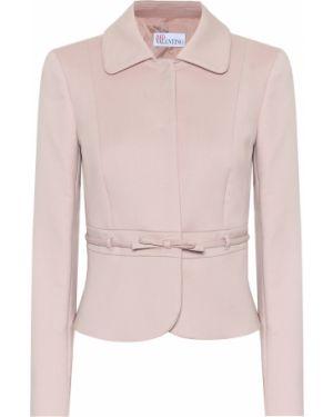 Хлопковый розовый пиджак Redvalentino