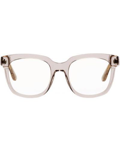 Złote różowe okulary oversize Tom Ford