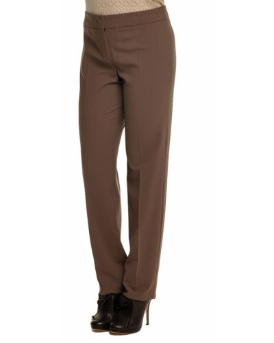 Шерстяные брюки - коричневые Armani Collezioni