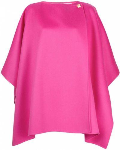 Różowa narzutka wełniana asymetryczna Valentino