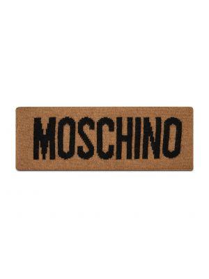Brązowa z kaszmiru czapka Moschino