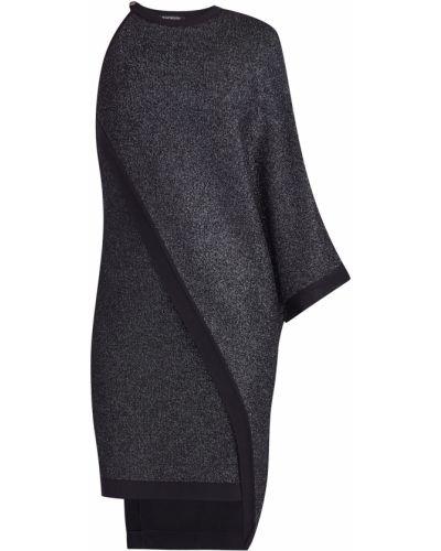 Платье мини на одно плечо с люрексом Balmain