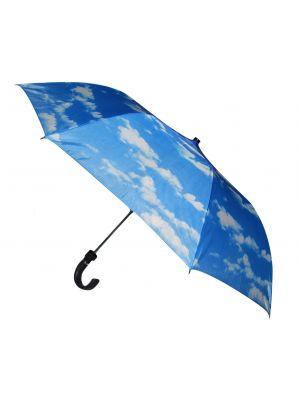 Niebieski automatyczny parasol materiałowy Semiline