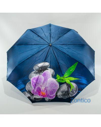 Сатиновый прямой автоматический зонт Fiaba