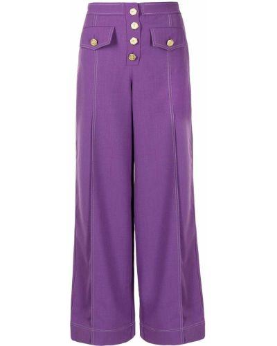 Брюки с завышенной талией - фиолетовые Alice Mccall