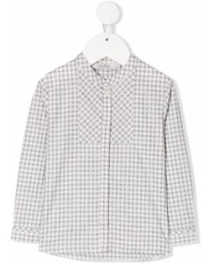 Koszula bawełniana z długimi rękawami z printem Baby Dior