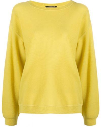 Желтый с рукавами джемпер круглый Luisa Cerano